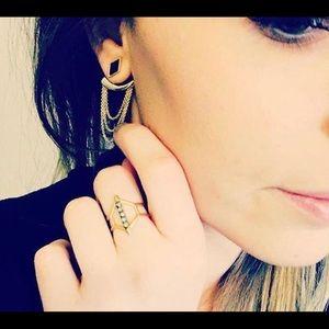 Stella & Dot Adjustable Gold Terra Ring